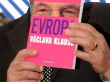 Prezident Václav Klaus představil 30. dubna v Praze svou nejnovější knihu nazvanou Evropa Václava Klause, foto: ČTK