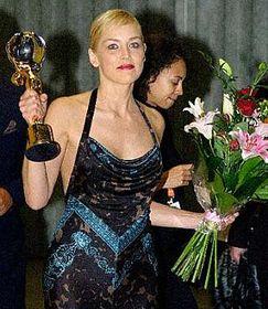 Sharon Stoneová sKřišťálovým glóbem, foto: ČTK
