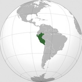 Perú, fuente: Natural Earth Data, Wikimedia CC BY-SA 3.0