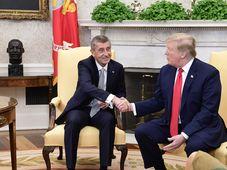 Andrej Babiš y Donald Trump, foto: ČTK/AP/Evan Vucci