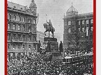Wenceslas square, Prague, October 28, 1918