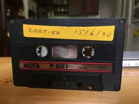 The original cassette of the VU and Půlnoc show in Paris, photo: Ian Willoughby