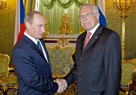 Vladimir Putin y Vaclav Klaus (Foto: CTK)