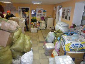 Гуманитарный центр в городе Мариупол (Фото: Мартин Доразин, Чешское радио)