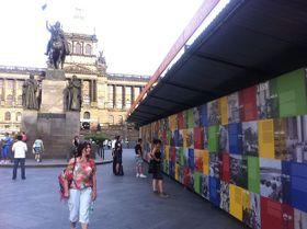 La Feria de la Libertad en la céntrica Plaza Venceslao de Praga