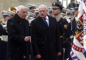 Václav Klaus et Ivan Gašparovič, photo: CTK