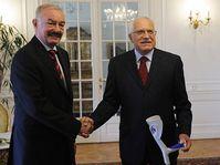 Přemysl Sobotka et Václav Klaus, photo: CTK