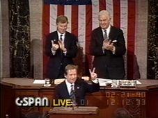 Václav Havel devant le Congrès américain, photo: C-SPAN