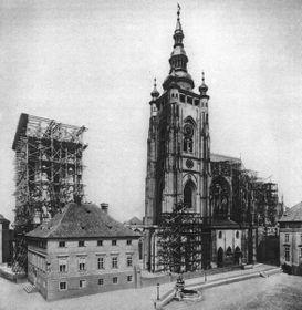 La cathédrale Saint-Guy en 1887, photo: public domain