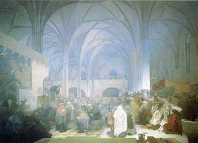 Alfons Mucha: Jan Hus, Betlémská kaple, фото: public domain