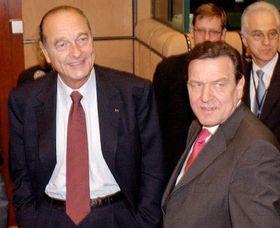 Jacques Chirac y Gerhard Schröder, foto: CTK