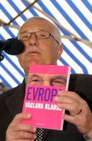 Prezident Václav Klaus představil 30. dubna vPraze svou nejnovější knihu nazvanou Evropa Václava Klause, foto: ČTK