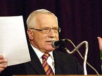 Le président Vaclav Klaus, photo: CTK