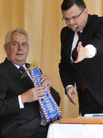 Jindřich Forejt y Miloš Zeman, foto: ČTK