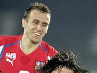 Karel Poborsky and Tomas Rosicky, photo: CTK