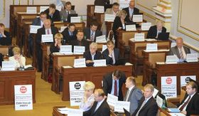 La oposición de izquierda, foto: ČTK