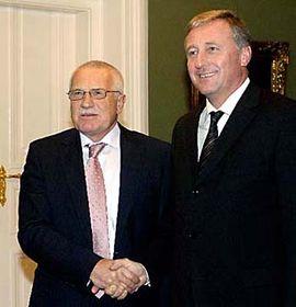 Václav Klaus (vlevo) aMirek Topolánek, foto: ČTK