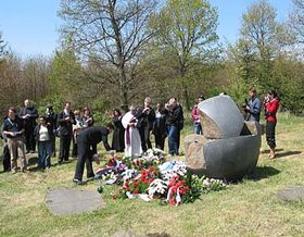 The ceremony at the memorial Lety u Pisku