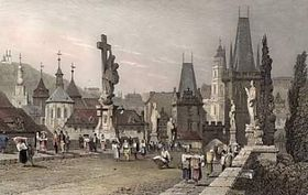 Charles Bridge in 1832