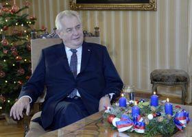 Рождественское обращение президента Милоша Земана, Фото: ЧТК