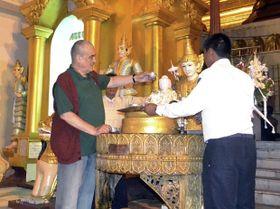 Karel Schwarzenberg en Myanmar, foto: ČTK