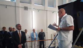Lubomír Metnar před vstupem do simulátoru, foto: Zdeňka Kuchyňová