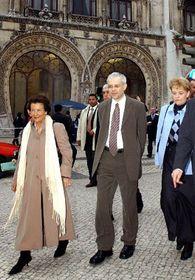 Primer Ministro checo, Vladimir Spidla, con su esposa en Lisboa, foto: CTK