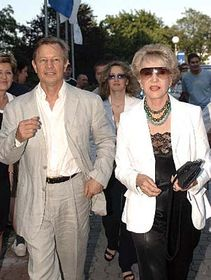 Michael York y su esposa Patricie en Zlín (Foto: CTK)