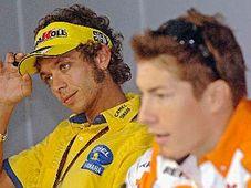 Valentino Rossi a Nicky Hayden, foto: ČTK