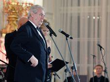 Президент Милош Земан во время президентского бала (Фото: ЧТК)