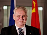 Miloš Zeman en Chine, photo: ČTK