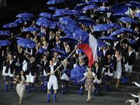 Petr Koukal carried the country's flag at the opening ceremony on Friday, photo: CTK