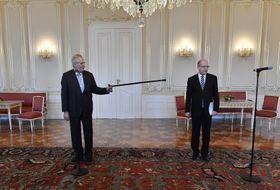 Miloš Zeman y Bohuslav Sobotka, foto: ČTK