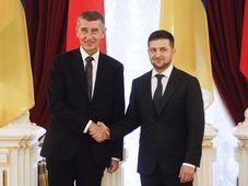 Andrej Babiš et Volodymyr Zelensky, photo: AP Photo/Efrem Lukatsky