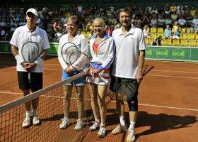Ivan Lendl, Hana Mandlíková, Jana Novotná, Miloš Mečíř, photo: CTK