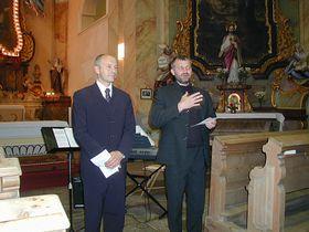 Bürgermeister Martin Mänzel und P. Pavel Tichý