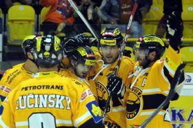 Players of HC Verva Litvínov, photo: CTK