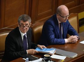 Andrej Babiš y Bohuslav Sobotka, foto: ČTK
