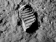 Otisk Aldrinovy boty do povrchu Měsíce, foto: NASA