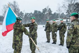 Der Einheit in Lettland (Foto: Die tschechische Armee)
