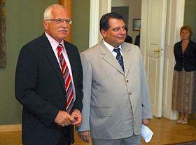 Václav Klaus aJiří Paroubek, foto: ČTK