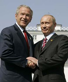 Vladimir Putin y George Bush (Foto: CTK)