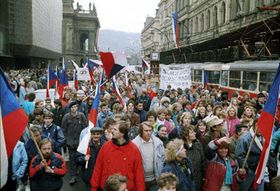 El noviembre 1989, foto: CTK