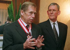 Vaclav Havel avec Bruce Jutzi, photo: CTK