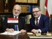 Lubomír Zaorálek y Ibrahim al-Jaafari, foto: ČTK
