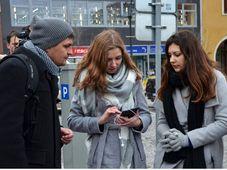 Мобильное приложение iWalk и ученики остравской гимназии им. П. Тигрида, фото: веб-сайт moderni-dejiny
