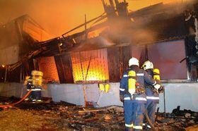 Пожар в брненском общежитии (Фото: ЧТК)