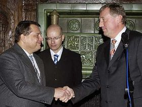 Jiri Paroubek and Mirek Topolanek, photo: CTK