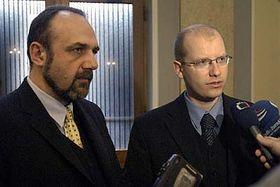 Михал Краус и Богуслав Соботка (Фото: ЧТК)