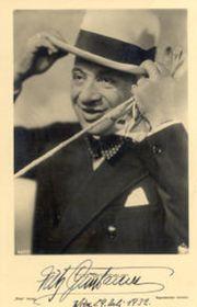 Fritz Grünbaum (Foto: Thomas Staedeli, Archiv des Österreichischen Theatermuseums, Wikimedia Commons, Public Domain)